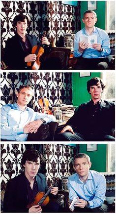 Sherlock and Dr. John Watson. Sherlock (BBC).  Benedict Cumberbatch and Martin Freeman.