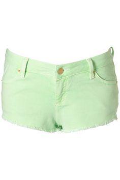 MOTO Neon Hotpants - Shorts - Apparel - Topshop USA