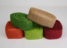 10 Yards 1.5 Burlap Ribbon Assorted Colors 5 by BurlapFabriccom, $17.95