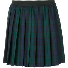 P.A.R.O.S.H. plaid pleated skirt ($311) ❤ liked on Polyvore featuring skirts, bottoms, green, green skirt, plaid skirts, plaid pleated skirts, tartan skirt and blue green skirt