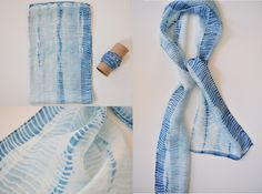 DIY: Tesuji Shibori - pleat fabric & wrap around rope before dyeing in indigo | The Indigophile