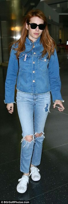 9f985b17031 Emma Roberts in AC for AG jeans Robert Rock