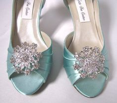 something blue. bride shoes
