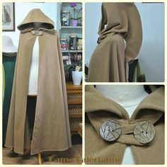 Cape Costume, Costume Roi, Jedi Costume, Cloak Pattern, Medieval Dress Pattern, Costumes Couture, Diy Costumes, Costume Ideas, Medieval Clothing