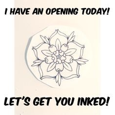I have an opening today!! Who wants a new tattoo? I'll be at the shop from 1-10pm! Email me at rabbitholetattoos@gmail.com !