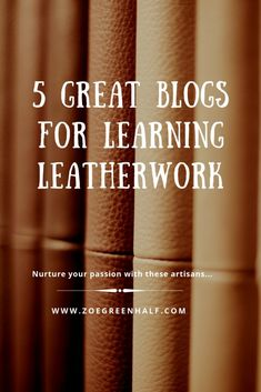 It's no secret that when you're starting out in leatherwork, it can be hard to find the answers to your burning crafting questions. Every maker has felt it I'm sure. Many (but not all) books are… Leather Art, Sewing Leather, Leather Gifts, Leather Pattern, Leather Tooling, Leather Jewelry, Leather Wallet, Handmade Leather, Vintage Leather