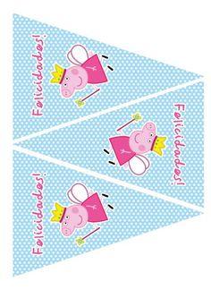 Imprimibles Peppa Pig celeste - www.susaneda.com