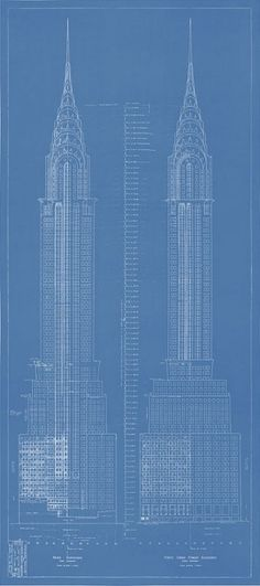 12 best cubicity 3d product examples images on pinterest this chrysler building blueprint is part of a limited edition collection of exclusive new york city blueprints the chrysler building is one of five iconic malvernweather Image collections