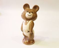Porcelain Bear MISHA mascot XXII Olympic Games 1980 in Moscow USSR Kislovodsk by Olympiad80 on Etsy