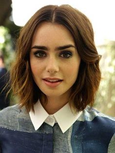 Lily Collins Hair Color.