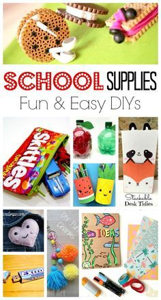 School Supplies DIY Ideas - oh yes we ADORE stationery, school supplies and anything back to school related. I always had a thing about stationery when young and loved making school supplies diys or personalising my stationery. Here are some wonderful Back to School DIY ideas for kids!