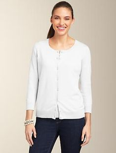 Talbots - Fancy Cable V-Neck Sweater | Top 10 Sweaters | Misses ...