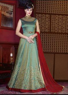Rajwadi brings to you fresh collection of Anarkali Dress Materials. Shop New Designer Salwar Kameez Dress Materia for Wedding and Party with Shipping in uk, usa, uae Designer Salwar Kameez, Designer Anarkali, Designer Gowns, Indian Designer Wear, Shalwar Kameez, Churidar, Lehenga Choli, Robe Anarkali, Costumes Anarkali