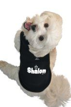 Ruff Ruff And Meow Dog Tank Top Shalom Black Extra-large from Ruff Ruff & Meow - at www.buydogsweaters.com   $19.95