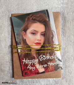Personalized Birthday Card Gift With Name and Photo