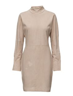 DAY - Crisp Asymmetric closure Goat skin Button cuffs Fitted waist Mock turtle neckline Made from luxurious materials Modern Sophisticated Goat leather is a soft and supple leather. Mock Turtle, High Neck Dress, My Style, Day, Crisp, Cuffs, Leather, Neckline, Closure
