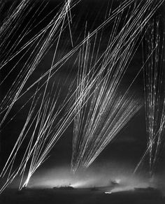 US anti-aerial artillery during the Battle of Okinawa in March 1945. (W. Eugene Smith)