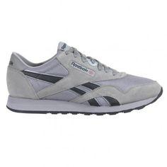 acda97345c6a Reebok CL Nylon Mens Running Shoe V54803 Carbon-Black-Silver Mens Running