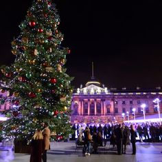 Ice Skating at Somerset House, London, Christmas 2016