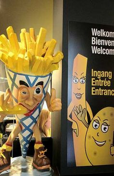 A museum........French Fries......I must go.  Just have to get to Belgium~