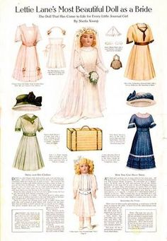 Lettie Lane DAISY Doll patterns_Beautiful Bride