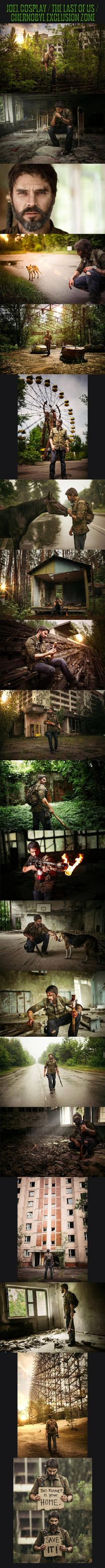"Epic ""The Last Of Us"" cosplay in Chernobyl exclusion zone."