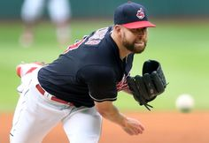 Cleveland Indians Corey Kluber, pitching against the Los Angeles Angels in the first inning at Progressive Field in Cleveland, Ohio on August 11, 2016. Kluber led 8-2 in the bottom of the 4th inning. Indians won 14-4 (Chuck Crow/The Plain Dealer)
