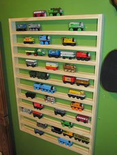 EXTRA LARGE Thomas Train Storage Rack by dusteater5614 on Etsy, $90.00