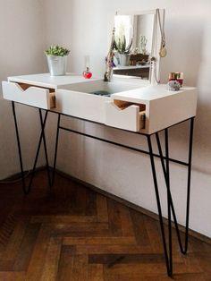 Schminktisch / / Moderne Möbel / / Schwarz / Weiß / / Girly Personal