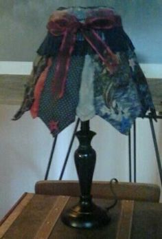 Necktie lampshade by Patsy