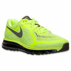 Men's Nike Air Max 2014 Running Shoes | FinishLine.com | Volt/Black/Barely Volt/White