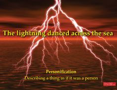 personification example figurative language language personification example the lightning danced across the