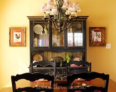 French Country Dining Room. I need the hutch. Wonder if something like this would fit in the breakfast room.
