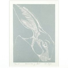 hand printed hare by edition design shop | notonthehighstreet.com