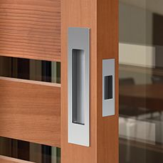 Merveilleux M Series By Mardeco :: Refined Sliding Door Hardware, Flush Pull, Recessed