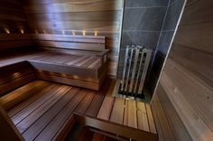 Saunagalleria I SUN SAUNA Oy I Ideoita saunaremonttiin, saunaideat Banquettes, New Shed Ideas, Design Sauna, Modern Saunas, Finnish Sauna, Dream Rooms, Home Depot, Home And Living, Master Bath