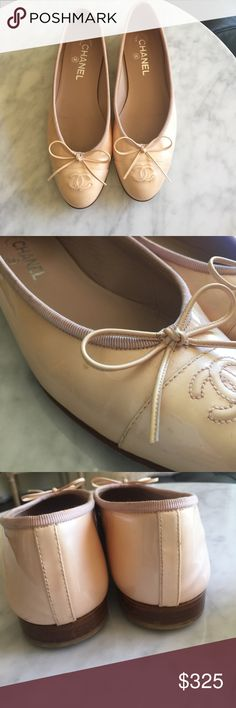 9328ca95ef0b Nude Light Pink Chanel Flats 🌼see desc for size🌼 Chanel 38 fits more