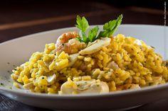La Tasca (jantar)    Arroz Meloso de gambas y setas  Arroz cremoso com camarões e cogumelos