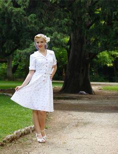 1940s style TEA DRESS