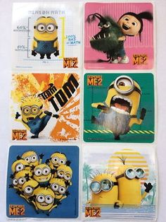 18 Despicable Me 2 Stickers Party Favors Teacher Supply Minions on eBay!