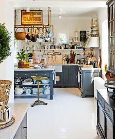 Blue-Gray #Kitchen Cabinets