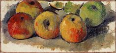 Paul Cézanne (1839-1906) - Five Apples, 1877-78 - Oil on canvas - Private Collection