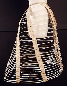 Cage Crinoline Made Of Steel And Cotton - American   c.1862  -  The Metropolitan Museum Of Art