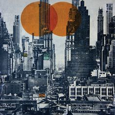 ARTFINDER: NEW YORK SKYLINE 1948 by db Waterman - Cityscape of the New york skyline in Mixed media and collage on paper. This particular artwork is part of the Collages series. These collages are built. Canvas Wall Art, Canvas Prints, Paper Collage Art, Art Prints Online, 5 D, Saatchi Art, New York Skyline, Fine Art, Abstract