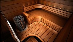 Miksi Sun Sauna? Sauna Design, Basement Bathroom, Saunas, Pool Designs, Jacuzzi, Logs, New Homes, Relax, Stairs