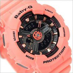 Casio Baby-G Analog Digital 100M Turquoise Black Sport Watch BA-111-3A, BA111