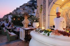Happy hour in paradise at Positano's Champagne & Oyster Bar