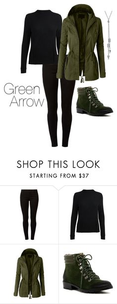 """Green Arrow"" by byrdsofafeather ❤ liked on Polyvore featuring Dorothy Perkins, LE3NO, Corso Como and Bling Jewelry"