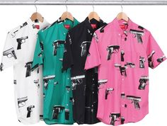 SUPREME  GUNS SHIRT  2013