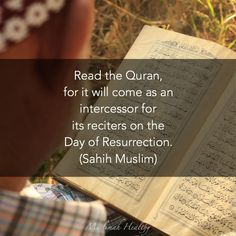 Instead of watching tv, read Quran. Instead of listening to music, listen to Quran. It will be there for you on the Day you will need it most!